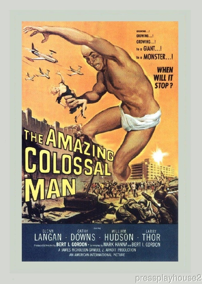 The Amazing Colossal Man: DVD, 1957, Glenn Langdon, Cathy Downs, The Great Sci-Fi Cult Gem! product photo