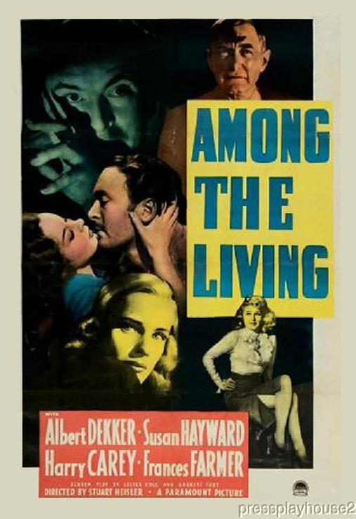 Among The Living: DVD, 1941, Albert Dekker, Susan Hayward, Film Noir Thriller product photo