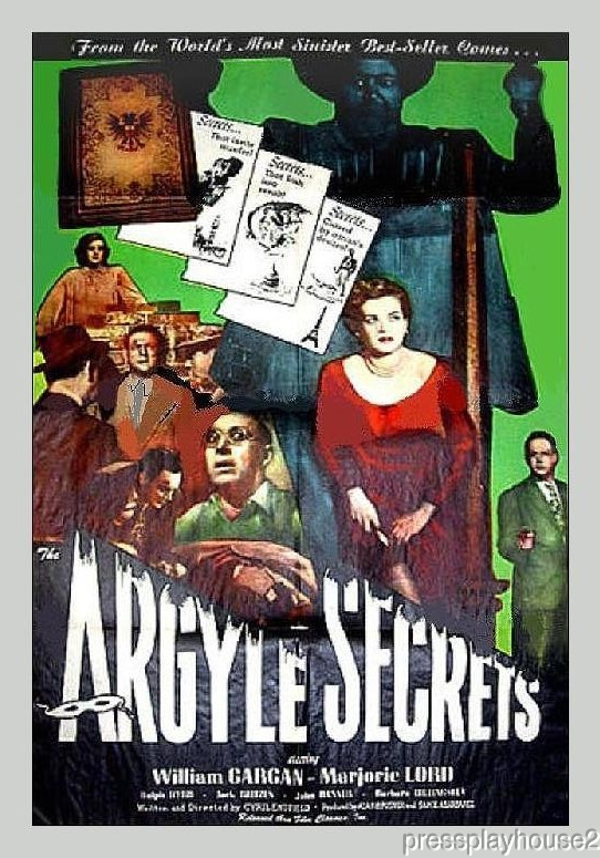 The Argyle Secrets: DVD, 1948, Marjorie Lord, Barbara Billingsley, Rare Mystery Gem product photo