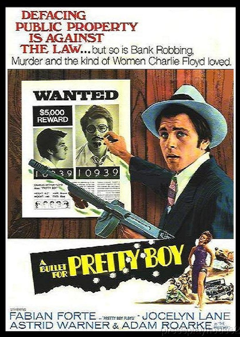 A Bullet For Pretty Boy: DVD, 1970, Fabian, Jocelyn Lane, Rare Crime Bio, Widescreen product photo