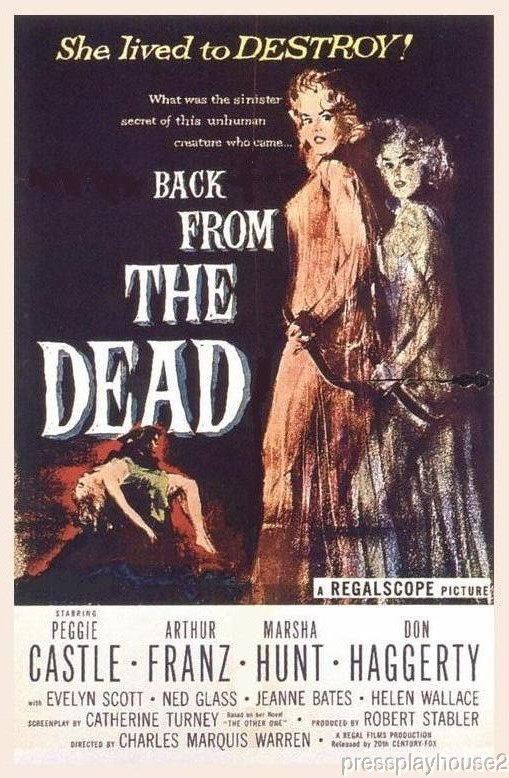 Back From The Dead: DVD, 1957, Peggie Castle, Arthur Franz, Rare & Creepy!! product photo