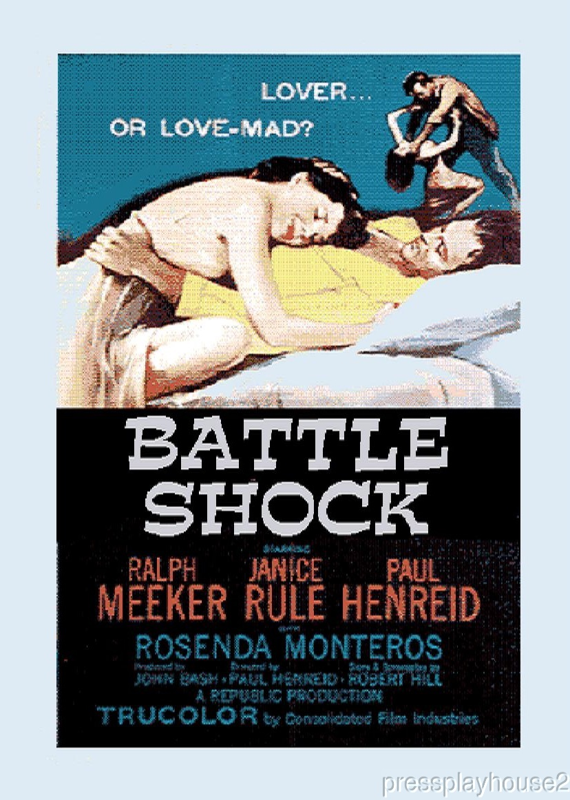 Battle Shock: DVD, 1956, Ralph Meeker, Janis Rule, Paul Henried, Rare 50s Mystery! product photo
