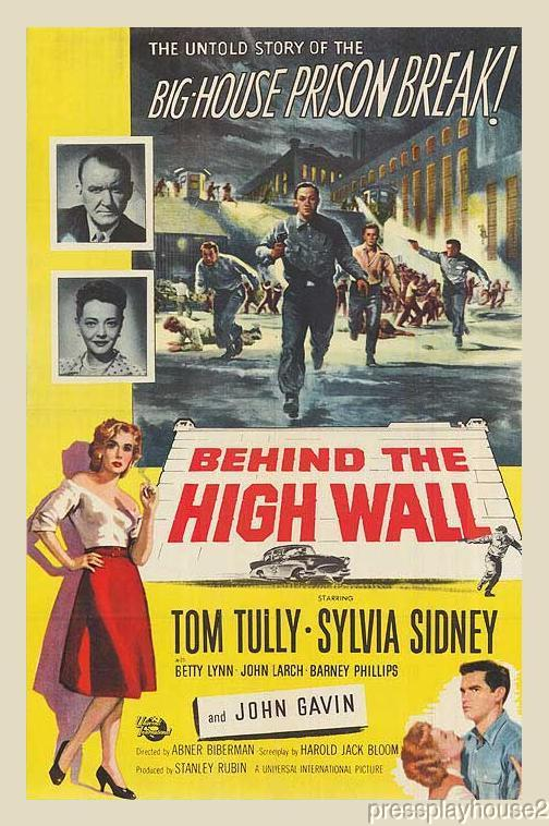 Behind The High Wall: DVD, 1956, John Gavin, Tom Tully, Obscure 50s Crime product photo