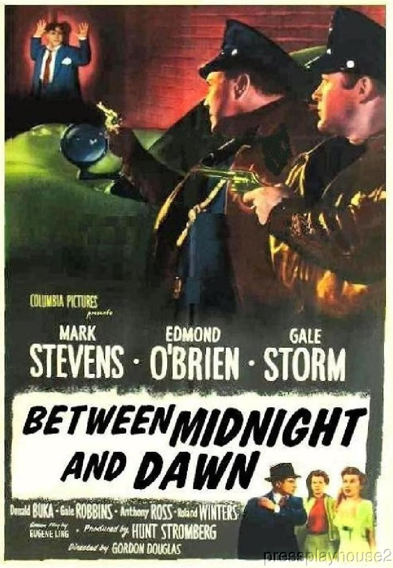 Between Midnight and Dawn: DVD, 1950, Edmond O'brien, Gale Storm, Crime Blockbuster! product photo