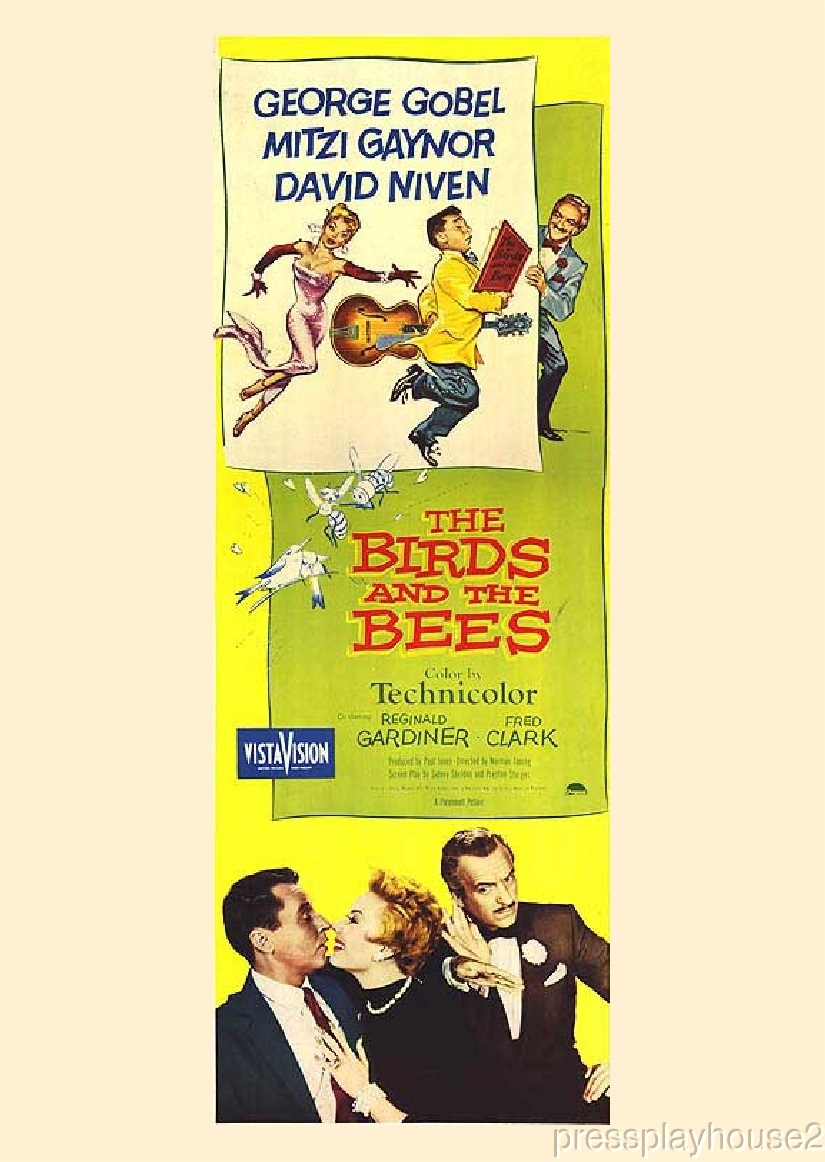 The Birds and The Bees: DVD, 1956, George Gobel, Mitzi Gaynor, David Niven, Fred Clark, Rarely Seen 50s Comedy Gem product photo
