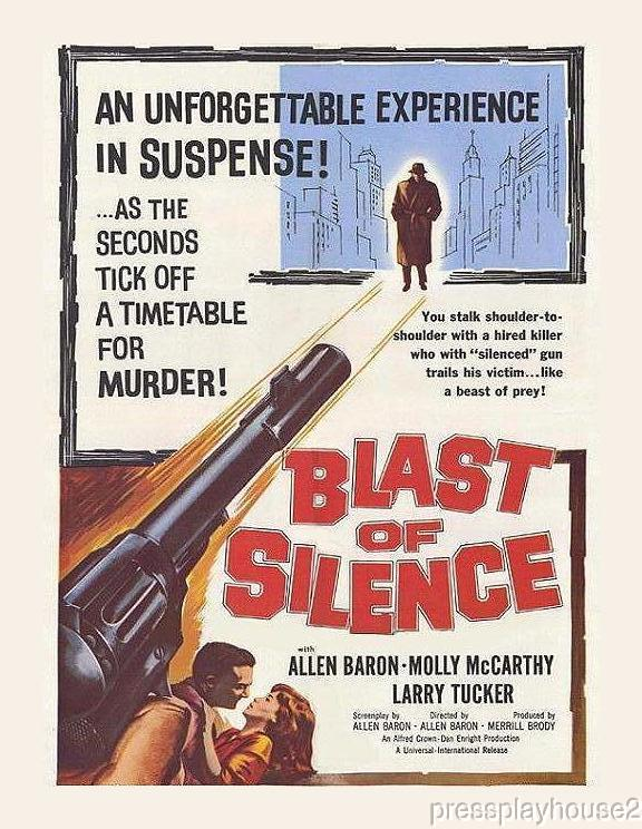 Blast of Silence: DVD, 1961, Allen Baron, Creepy Crime Film Noir Masterpiece product photo