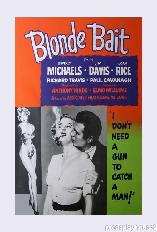Blonde Bait: DVD, 1956, Beverly Michaels, Rare 50s Women, In, Prison! product photo