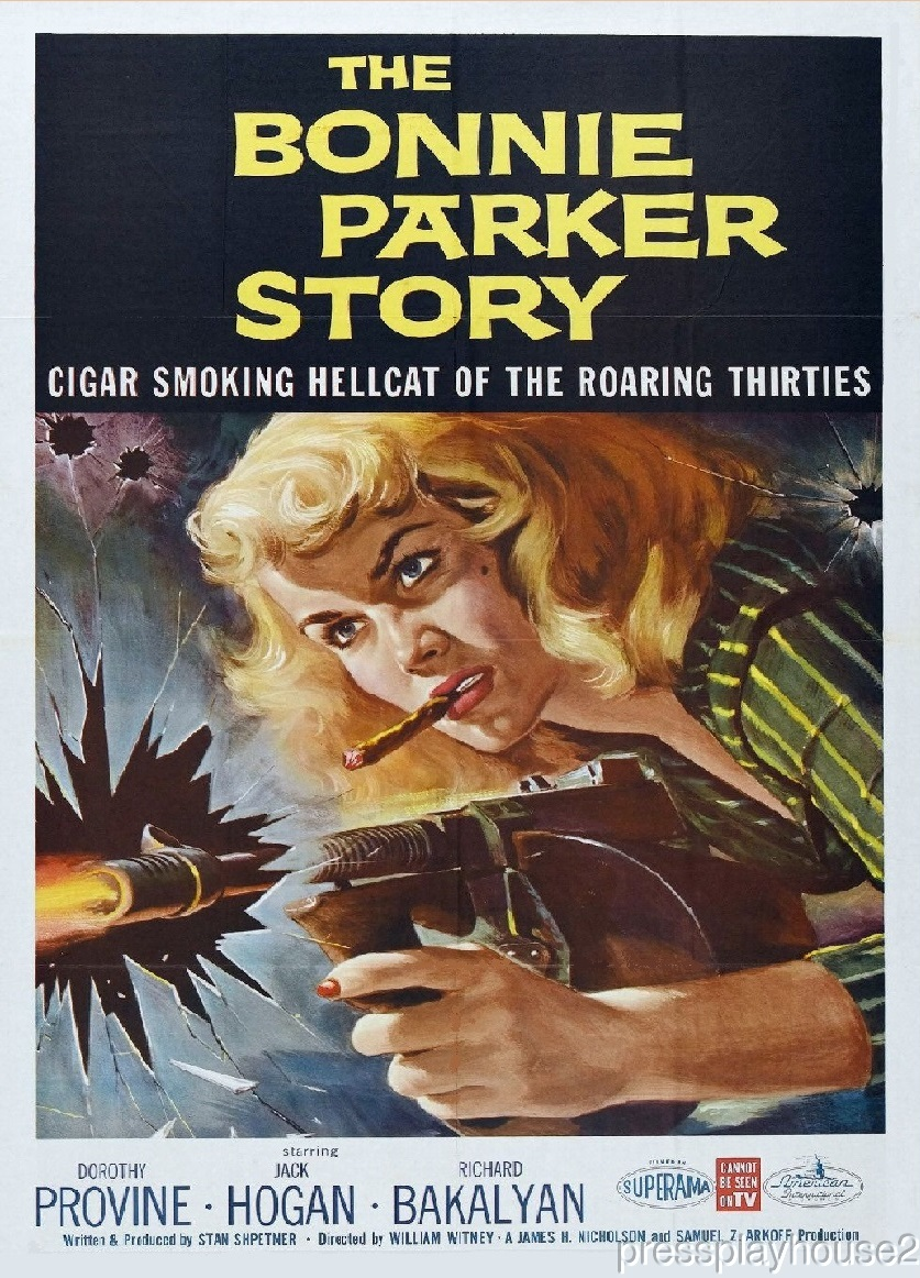 The Bonnie Parker Story: DVD, 1958, Dorothy Provine, Richard Bakalyan, Ken Lynch, Rare Crime Bio product photo