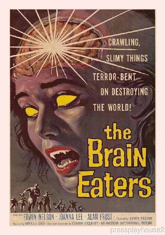 The Brain Eaters: DVD, 1958, Ed Nelson, Leonard Nimoy, Jody Fair, Widescreen product photo