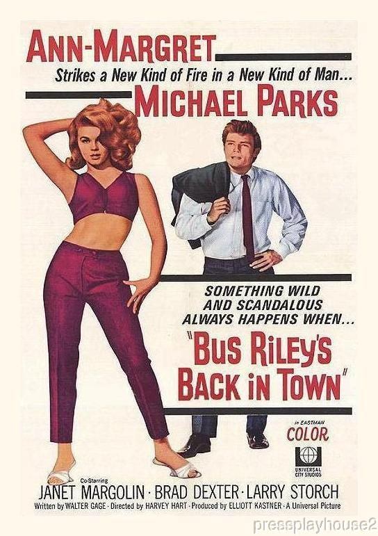 Bus Riley's Back In Town: DVD, 1965, Ann-Margret, Michael Parks, Janet Margolin, Kim Darby, Melodrama Blockbuster product photo