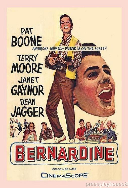 Bernardine: DVD, 1957, Pat Boone, Terry Moore, Dick Sargent, Dean Jagger, Rare 50s Gem! product photo
