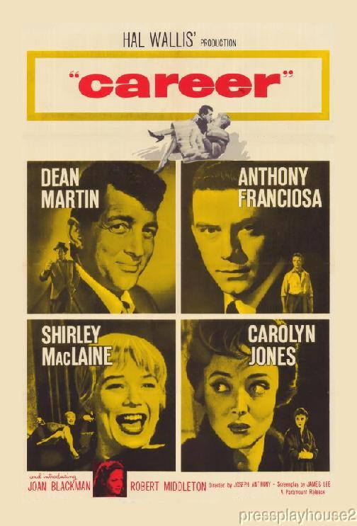 Career: DVD, 1959, Dean Martin, Shirley Maclaine, Carolyn Jones, Tony Franciosa product photo