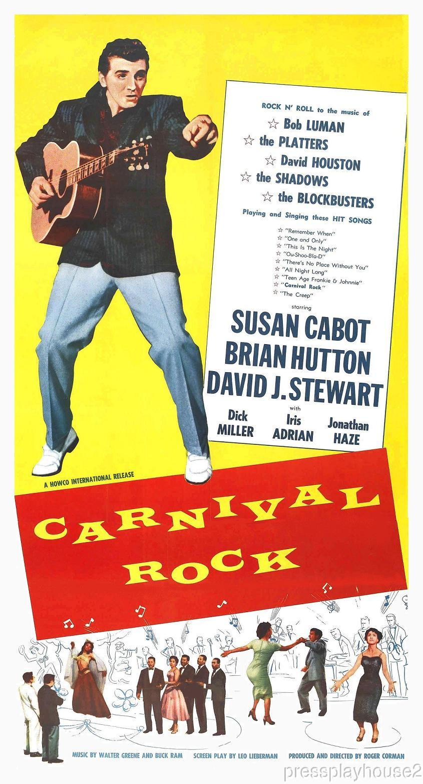 Carnival Rock: DVD, 1957, Susan Cabot, Bob Luman, The Platters, Rock & Roll Crime! product photo
