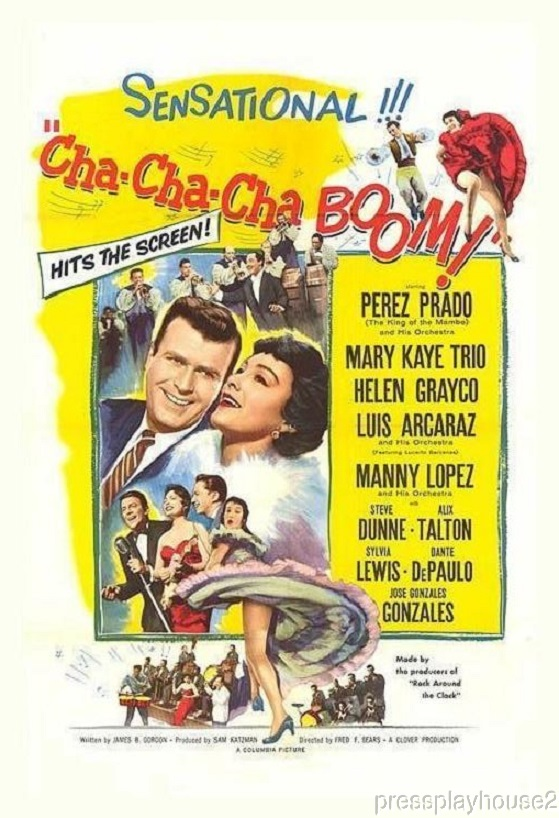 Cha-Cha-Cha Boom!: DVD, 1956, Perez Prado, 50s Cult Musical Comedy Period Piece! product photo