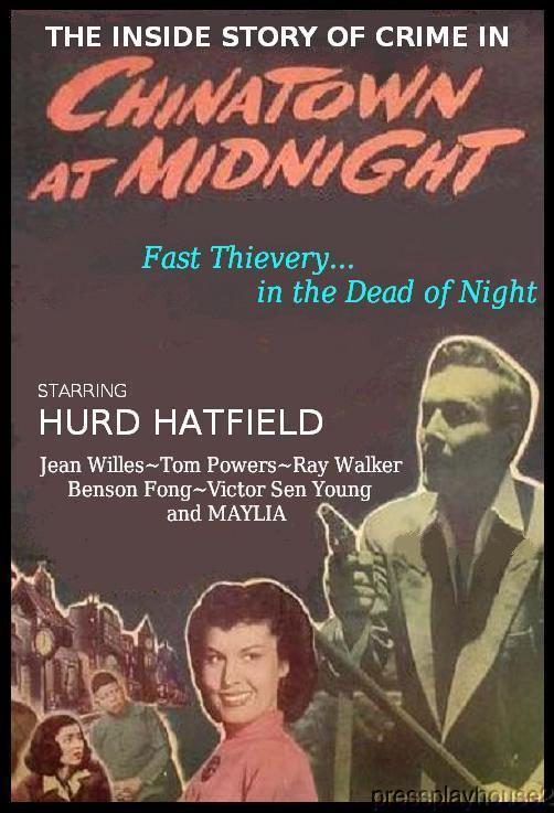 Chinatown At Midnight: DVD, 1949, Hurd Hatfield, Jean Willes, Hard-To-Find Film Noir product photo