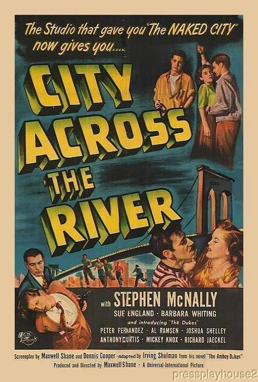 City Across The River: DVD, 1949, Tony Curtis, Stephen McNally, Thelma Ritter, Jeff Corey, Excellent NYC Teen Gang product photo
