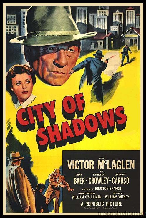 City of Shadows: DVD, 1955, Kathleen Crowley, Anthony Caruso, Rarely Seen 50s Crime! product photo