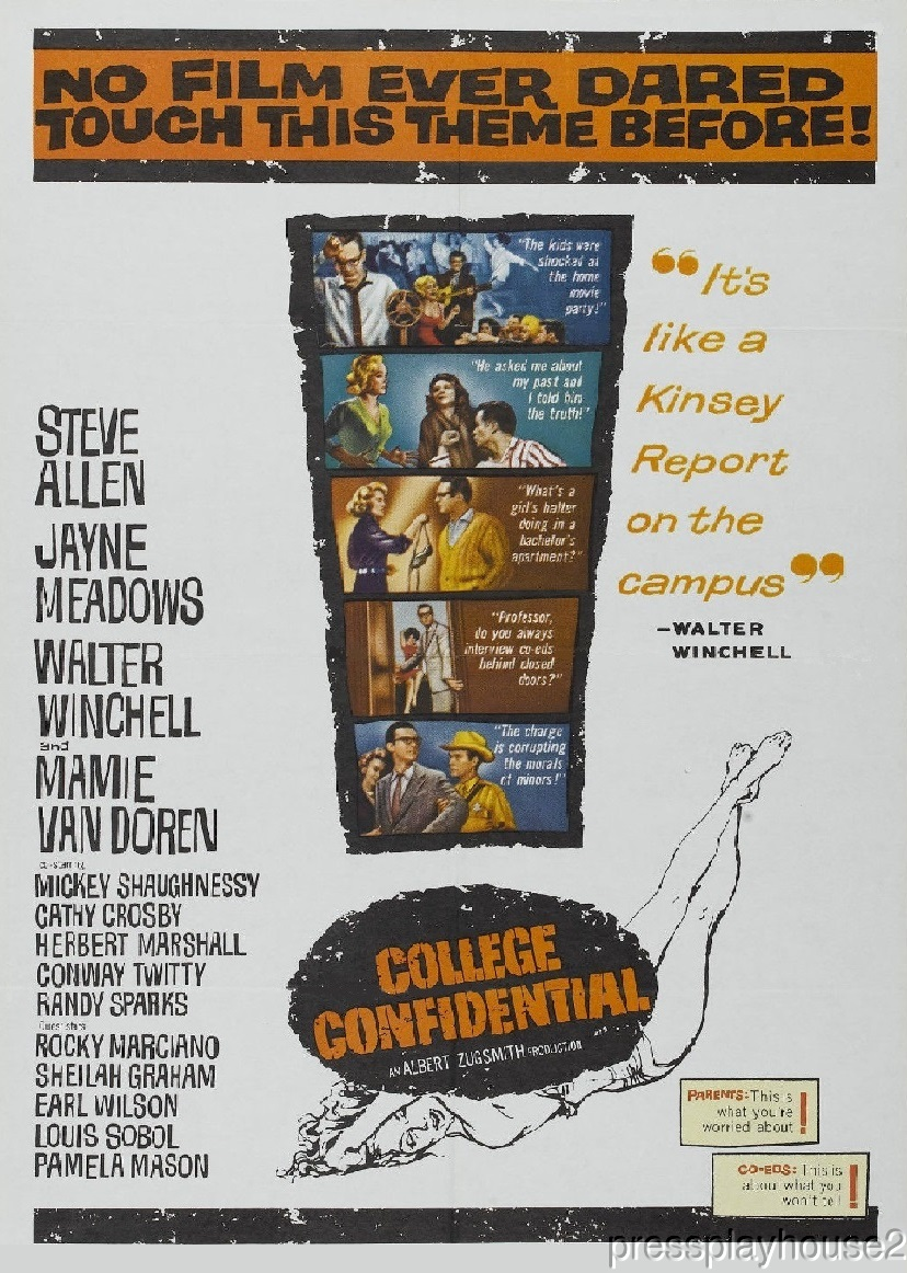 College Confidential: DVD, 1960, Mamie Van Doren, Steve Allen, Conway Twitty, Widescreen product photo