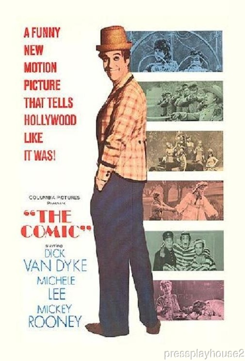 The Comic: DVD, 1969, Dick Van Dyke, Mickey Rooney, Michele Lee, Steve Allen, Widescreen product photo