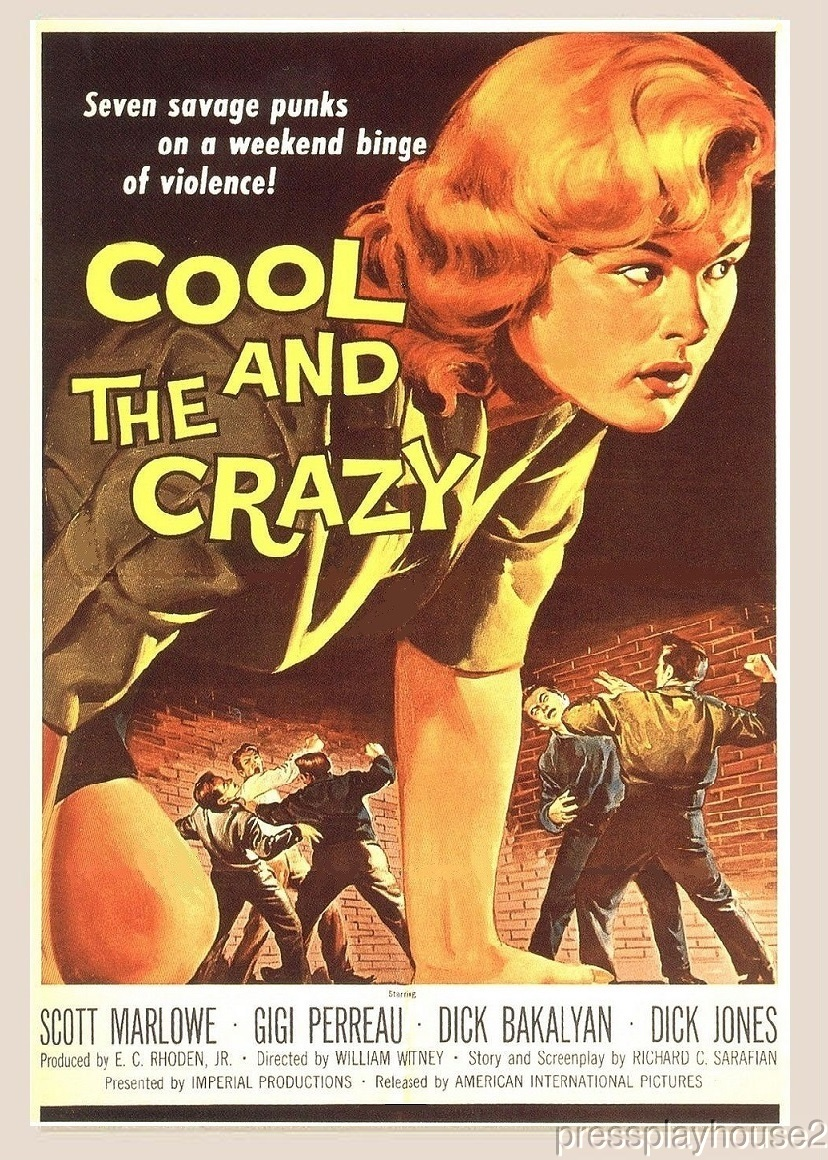 The Cool and The Crazy: DVD, 1958, Scott Marlowe, Richard Bakalyan, Hard-To-Find Teenage Gang Gem! product photo