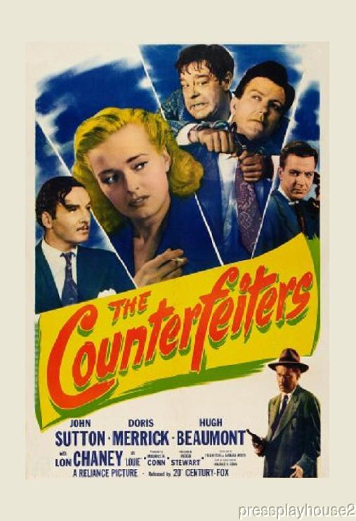 The Counterfeiters: DVD, 1948, Hugh Beaumont, Lon Chaney Jr., Joi Lansing, Scott Brady product photo