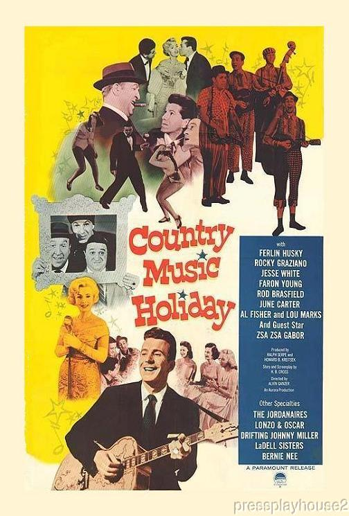 Country Music Holiday: DVD, 1958, Ferlin Husky, June Carter, Faron Young, Full Uncut Version product photo