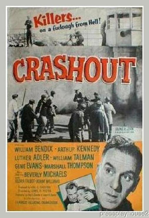 Crashout: DVD, 1955, William Bendix, Beverly Michaels, Luther Adler, Percy Helton, 50s Jailbird Blockbuster product photo