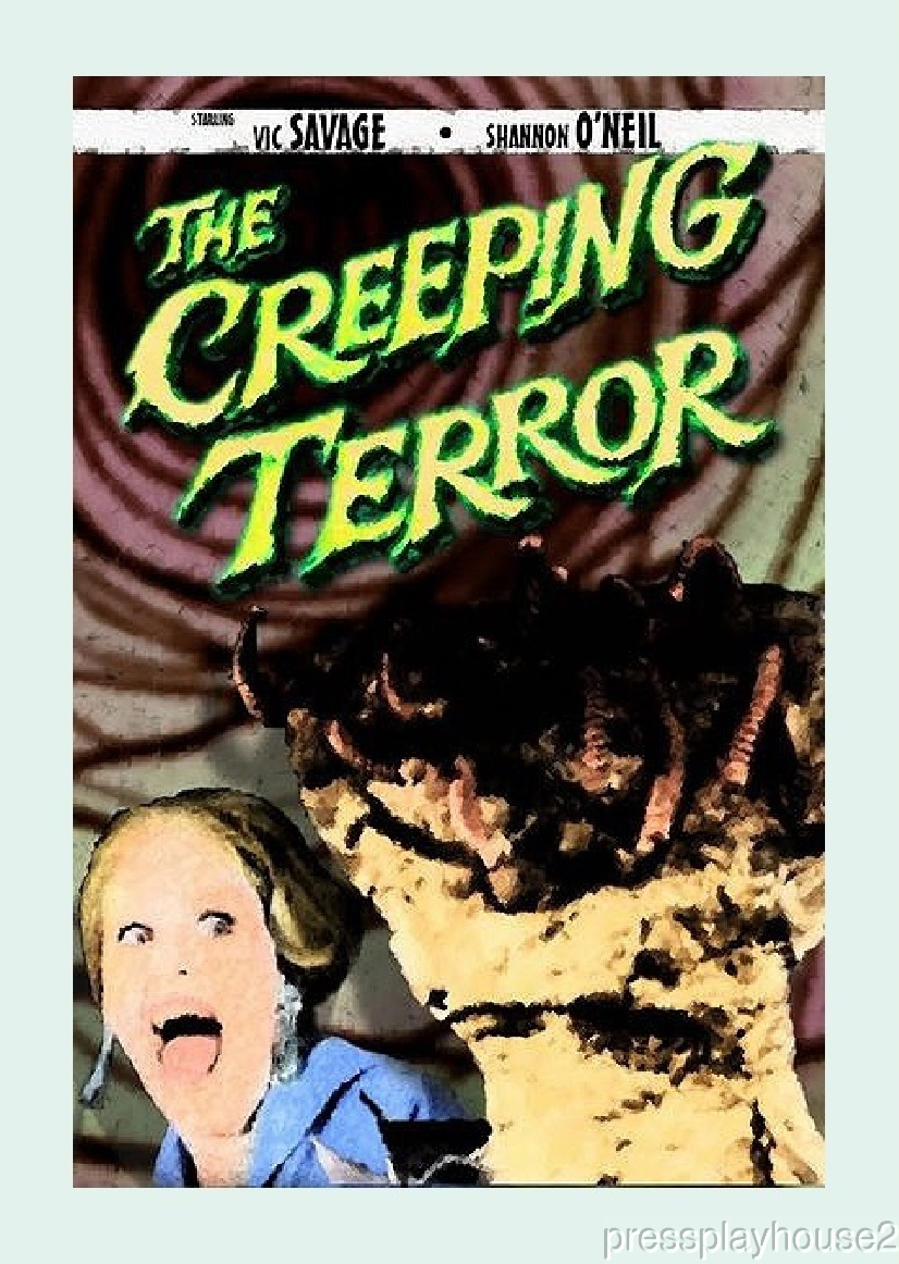 The Creeping Terror: DVD, 1964, Sci-Fi Cult Film Classic, Must See To Believe! product photo
