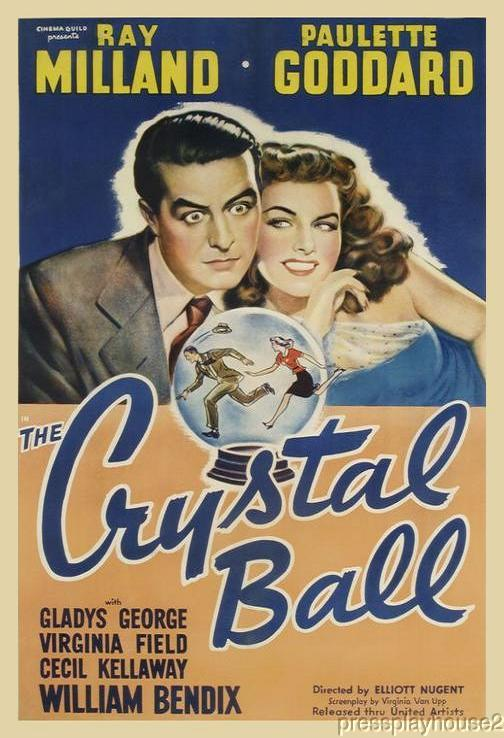 The Crystal Ball: DVD, 1943, Ray Milland, Paulette Goddard, William Bendix product photo