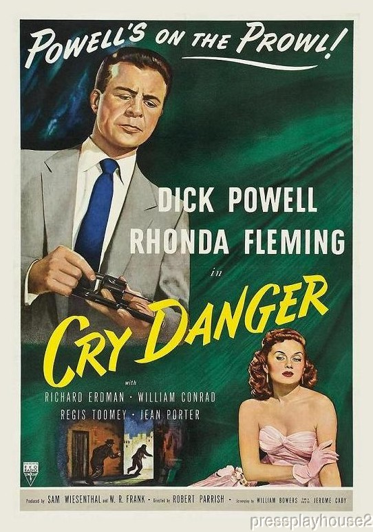 Cry Danger: DVD, 1951, Dick Powell, Rhonda Fleming, William Conrad, Film Noir Gem product photo