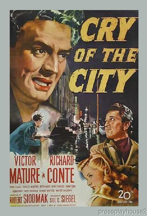 Cry of The City: DVD, 1948, Victor Mature, Richard Conte, Shelley Winters, Crime Gem product photo