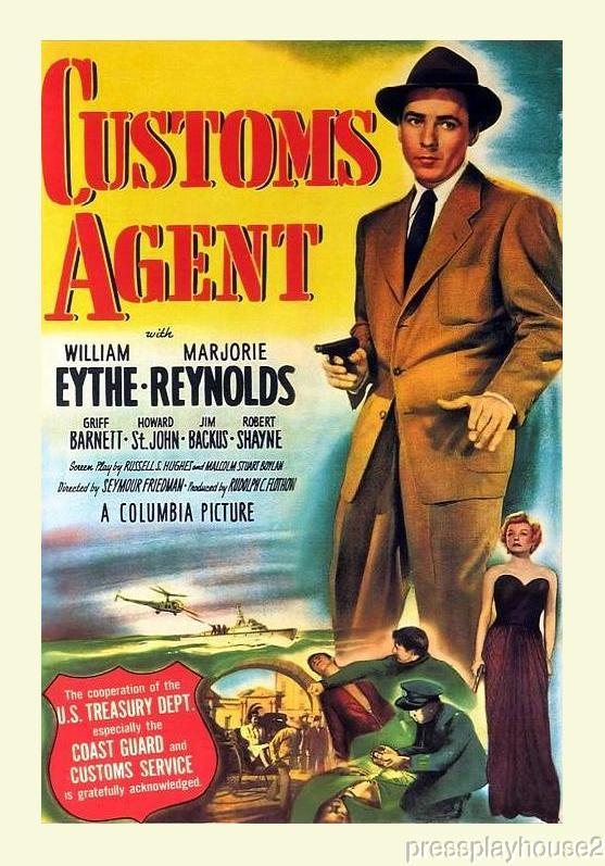 Customs Agent: DVD, 1950, William Eythe, Jim Backus, Marjorie Reynolds, Rare 50s Crime! product photo