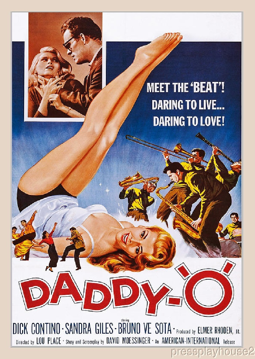 Daddy-O DVD, 1959, Dick Contino, Sandra Giles, Bruno Ve Sota, Rare Teen Rock & Roll product photo