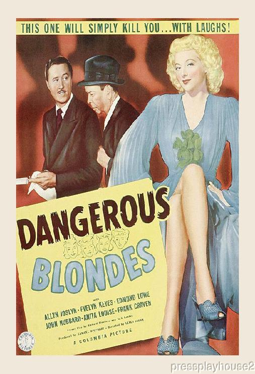 Dangerous Blondes: DVD, 1943, Evelyn Keyes, Hilarious Crime Comedy Gem product photo