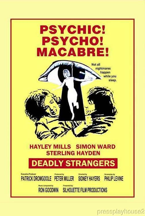 Deadly Strangers: DVD, 1974, Sterling Hayden, Hayley Mills, UK Horror Thriller! product photo