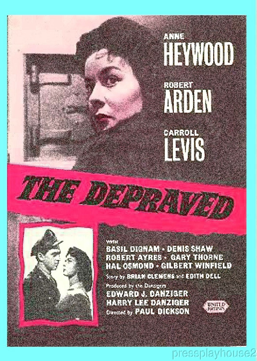 The Depraved: DVD, 1957, Anne Heywood, Robert Arden, Obscure UK Crime Classic product photo