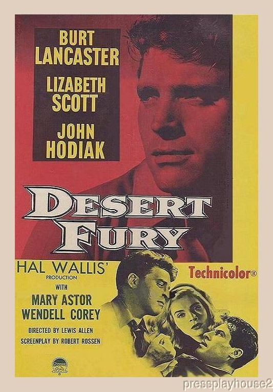 Desert Fury: DVD, 1947, Burt Lancaster, Lizabeth Scott, Wendell Corey, John Hodiak, Rare Film Noir In Color product photo