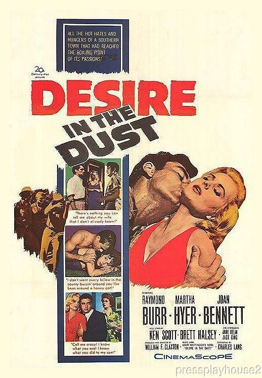 Desire In The Dust: DVD, 1960, Raymond Burr, Martha Hyer, Anne Helm, Brett Halsey, Widescreen product photo