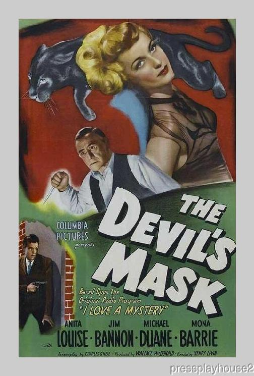 The Devil's Mask: DVD, 1946, Anita Louise, Jim Bannon, Mona Barrie, Frank Wilcox product photo