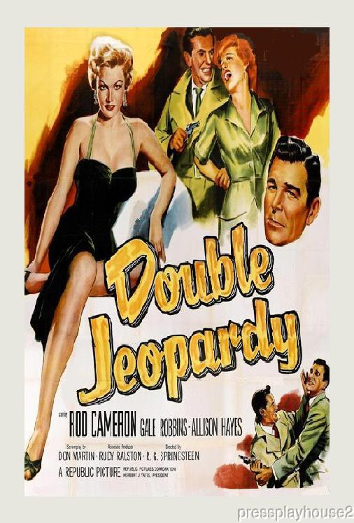 Double Jeopardy: DVD, 1955, Allison Hayes, Jack Kelly, Rod Cameron, Rare 50s Crime! product photo