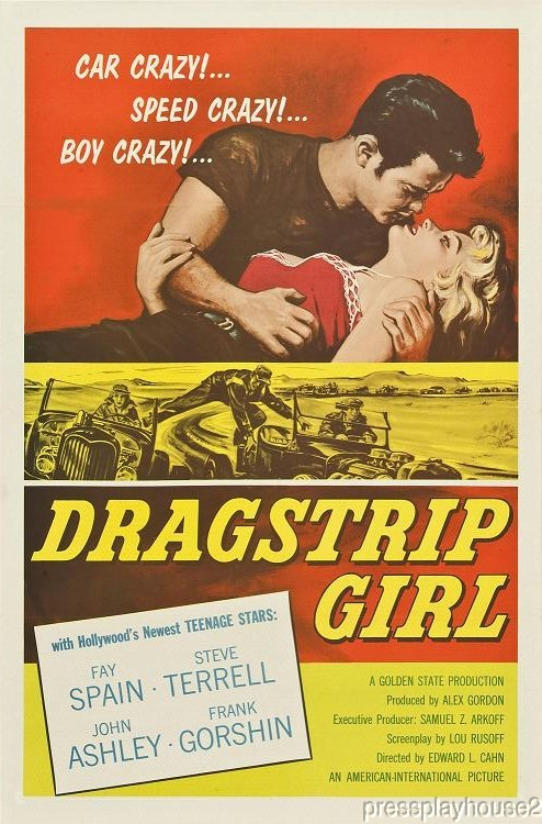 Dragstrip Girl: DVD, 1957, Fay Spain, John Ashley, Frank Gorshin, Obscure 50s Teen Hot Rod Film product photo