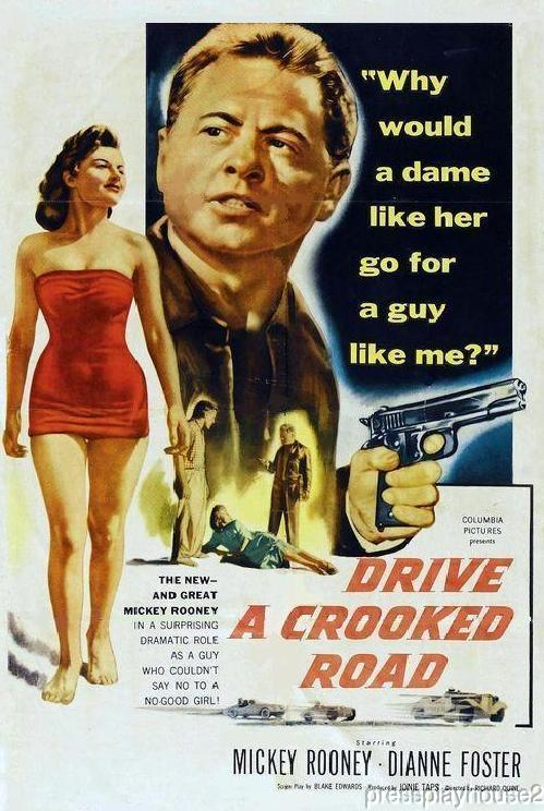 Drive A Crooked Road: DVD, 1954, Mickey Rooney, Kevin Mccarthy, Dianne Foster, Widescreen product photo