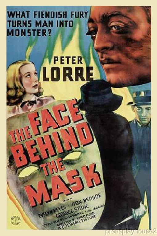 The Face Behind The Mask: DVD, 1941, Peter Lorre, Evelyn Keyes, Early Noir Gem! product photo