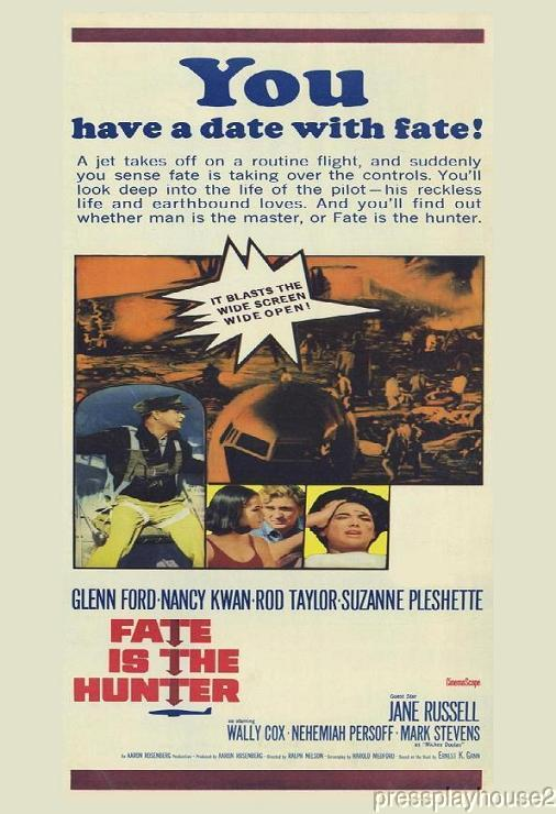 Fate Is The Hunter: DVD, 1964, Glenn Ford, Suzanne Pleshette, Rod Taylor, Nancy Kwan, Widescreen product photo
