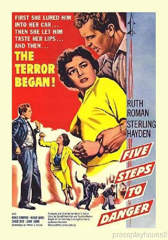 Five Steps To Danger: DVD, 1957, Sterling Hayden, Ruth Roman, Jeanne Cooper, Cold War Noir Classic product photo