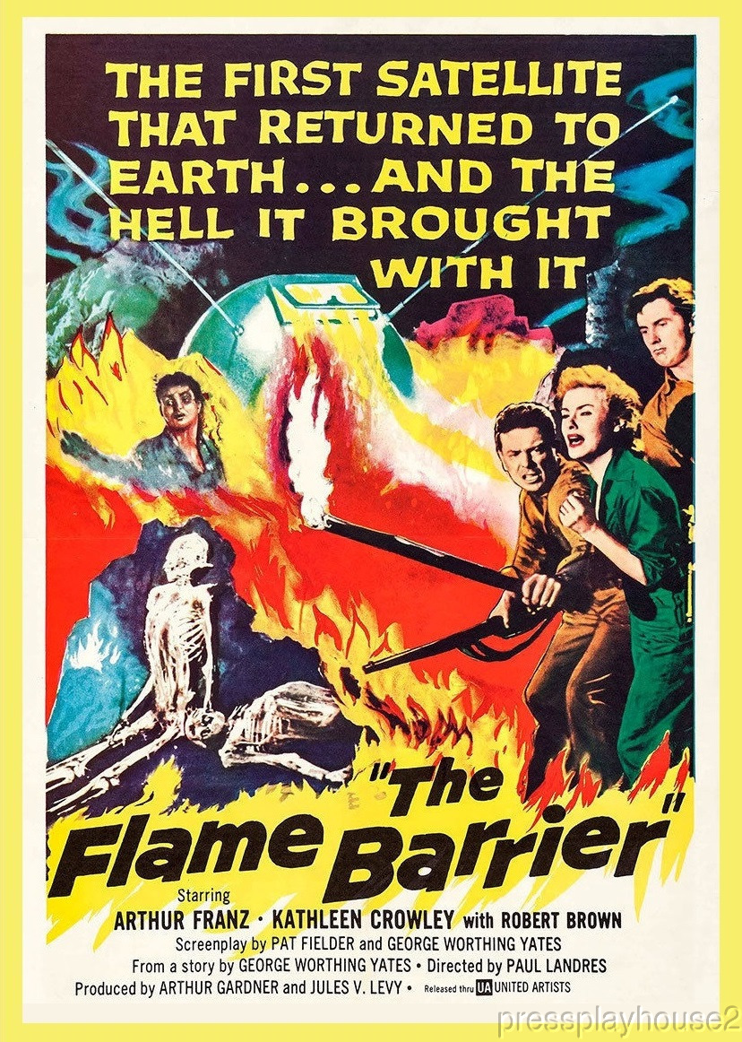 The Flame Barrier: DVD, 1958, Arthur Franz, Kathleen Crowley, Hard-To-Find 50s Sci-Fi product photo