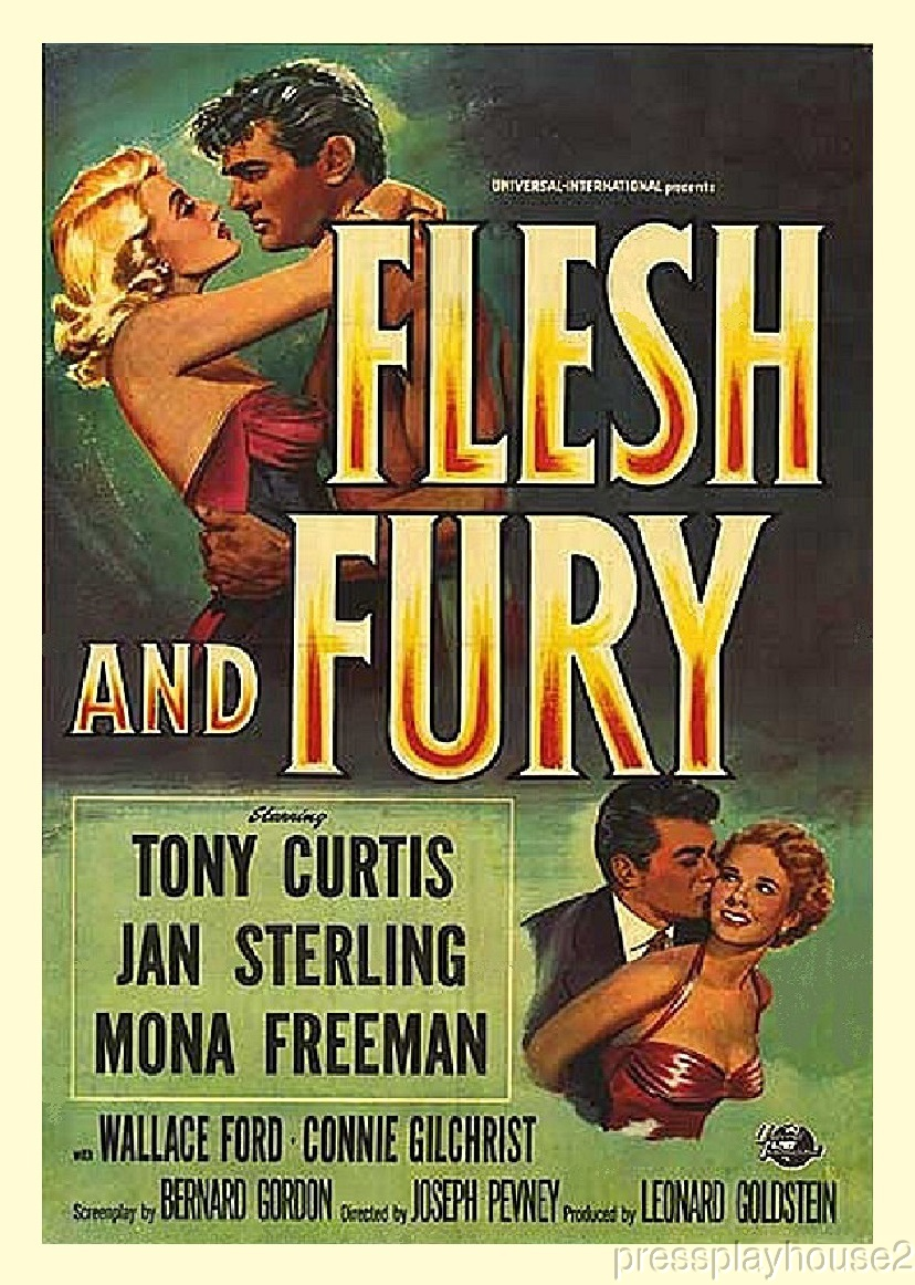 Flesh and Fury: DVD, 1952, Tony Curtis, Jan Sterling, Mona Freeman, Powerful Boxing Melodrama!! product photo