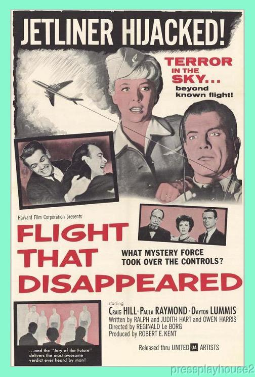 Flight That Disappeared: DVD, 1961, Paula Raymond, Craig Hill, Wild Fantasy Sci-Fi Adventure!! product photo
