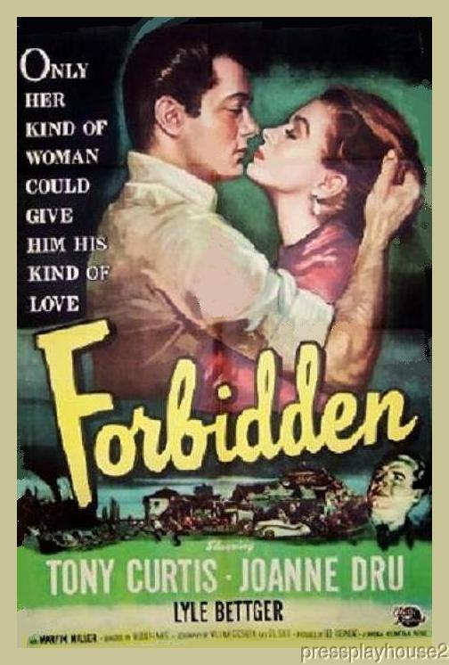 Forbidden: DVD, 1953, Joanne Dru, Tony Curtis, Victor Sen Young, Rare 50s Crime product photo