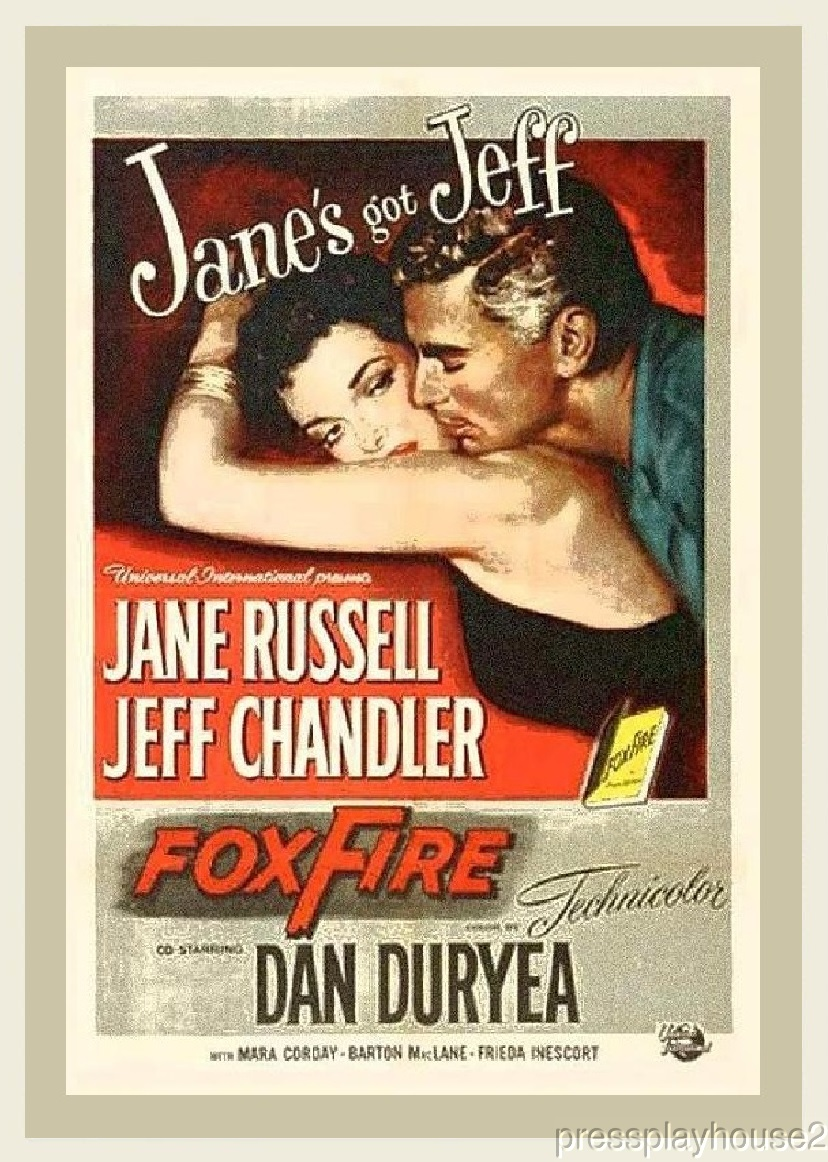Foxfire: DVD, 1955, Jane Russell, Jeff Chandler, Dan Duryea, Mara Corday, Action Rarity product photo